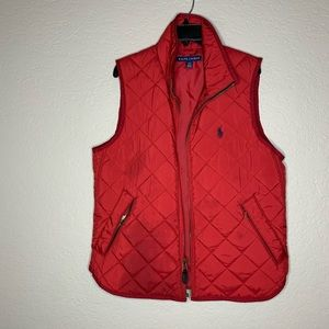 Ralph Lauren Blue Label Red Puffer Vest Size M